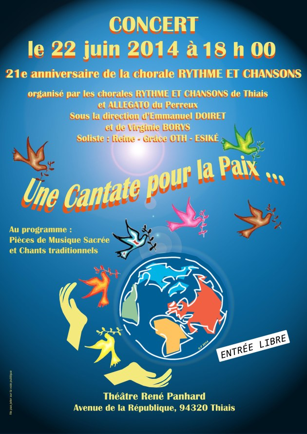21eme anniversaire de la chorale Rythme et Chansons de Thiais.