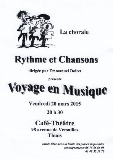 affichettes concert mars